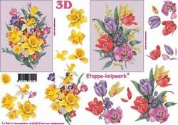A4 Knipvel Le Suh 4169228 Bloemen voorjaarsboeket