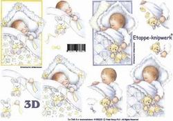 A4 Knipvel Le Suh 4169223 Geboorte Baby met knuffel