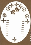 PaperUp oplegkaart A6 601034 Kerstklokken 1