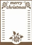 PaperUp oplegkaart A6 601036 Merry Christmas