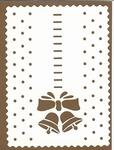 PaperUp oplegkaart A6 601039 Kerstklokken 2