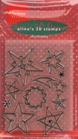 MD clear stamps EC0098 Eline's Christmas Stars