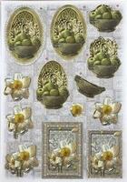 Joy! Glitter Decoupage 6013-0615 Bloemen rozen