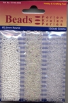 Hobby & Crafting trio Beads Pearl & Gloss 4608 AB White