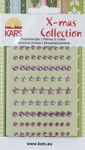 X-mas collection Plaksteentjes facet rond ster 056 pink/roze