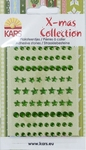 X-mas collection Plaksteentjes facet rond ster 057 groen