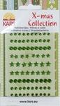 X-mas collection Plaksteentjes facet rond ster 057 groen