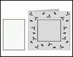 Romak stanskaart Vierkant Preeg Hulst K2-304-21 wit