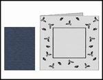 Romak stanskaart Vierkant Preeg Hulst K2-304-25 donkerblauw