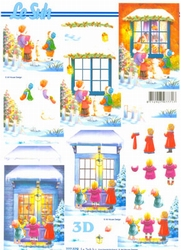 A4 Kerstknipvel Le Suh 777079 Kinder voor kerstraam