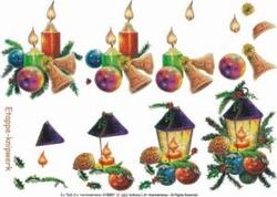 A4 Knipvel Le Suh Kerst  416907 Kaars/lantaarn