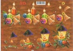 A4 Knipvel Le Suh Kerst  416922 Kaars/lantaarn