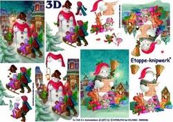 A4 Knipvel Le Suh Kerst 4169116 Sneeuwman