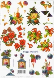 A4 Knipvel Le Suh Kerst 4169169 Kerststukjes/lantaarn/kaars