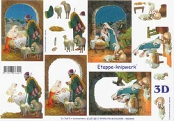 A4 Knipvel Le Suh Kerst 4169188 Kribbe geboorte van Jezus