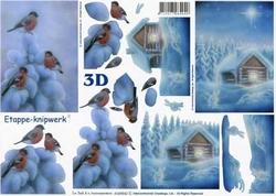 A4 Knipvel Le Suh 4169542 Winter Huis in de sneeuw