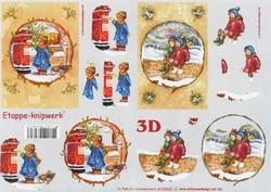 A4 Knipvel Le Suh Kerst 4169557 Kindjes in de sneeuw