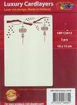 1 Doodey Luxe oplegkaart stans BPC5612 Lampions