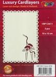 1 Doodey Luxe oplegkaart stans BPC5611 Kraanvogel