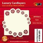 Doodey Luxe oplegkaart stans BPM5814 Bloemen