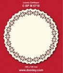 Doodey Luxe oplegkaart stans BPM5718 Kerstroos cirkel