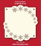 Doodey Luxe oplegkaart stans BPM5719 Sneeuwvlok