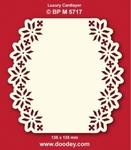 Doodey Luxe oplegkaart stans BPM5717 Kerstroos randen