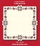 Doodey Luxe oplegkaart stans BPM5716 Hulst/ster/kerstroos