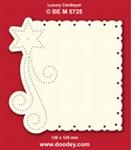 1 Doodey Luxe oplegkaart borduur BEM5725 Ster