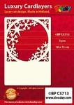 1 Doodey Luxe oplegkaart stans BPC5713 Lijst ster/ijskristal