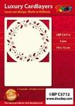1 Doodey Luxe oplegkaart stans BPC5712 Hulst/ster/vlok