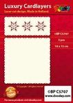 1 Doodey Luxe oplegkaart stans BPC5707 Sterren