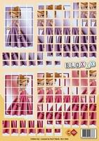 A4 Knipvel Carddeco Bloxxx BLX10009 Meisje in jurk
