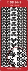 Kerststickervel Doodey DD7043 Kerststerren randen/hoekjes