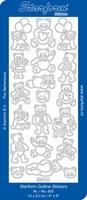 Sticker Kind Starform  805 Beertjes met  ballonnen/hartje
