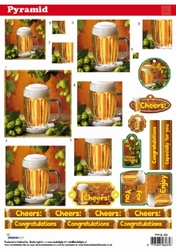 A4 Knipvel Studio Light Pyramid SL203 Heren/bier