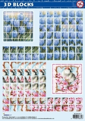 A4 Stansvel Studio Ligth BLOCKS SL 01 Tulpen/vogel