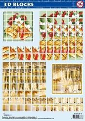 A4 Stansvel Studio Ligth BLOCKS SL 06 Kerst Klok & glas
