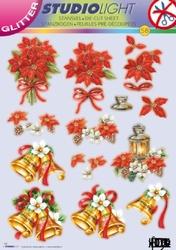 A4 Stansvel Studio Light Kerst  58 Klok glitter