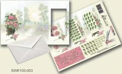 Olba pyramidebloenenkaart SWK100-003 Pot met bloemen
