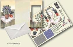 Olba pyramidebloenenkaart SWK100-006 Vaas met bloemen