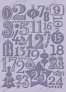 Cuttlebug Embossing stencil 37-1926 Christmas countdown