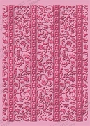 Cuttlebug Embossing stencil 37-1927 Holly ribbons/hulstrand