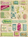 K&Company Adhesive Chipboard Accents margo mix