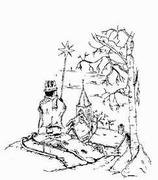 Houten Stempel kerst wintervallei