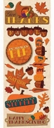 K&Company Adhesive Chipboard Accents thanksgiving