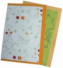 MD E.F. Geborduurd papier PK9058 lente