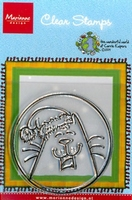 MD Corrie's clear stamps CO9602 Santa Kitty