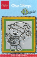 MD Corrie's clear stamps CO9606 Beary santa