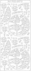 Kerst 3D Stickervel 2027 Kerst Landschap Rond Lantaar